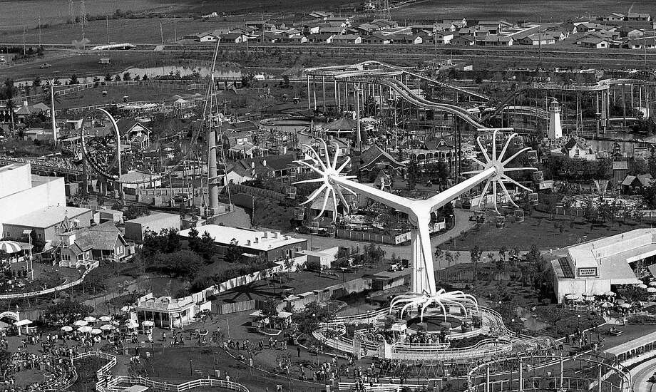 An aerial view of Marriott's Great America on the opening day of the season, March 14, 1978. Photo: Terry Schmitt / The Chronicle 1978