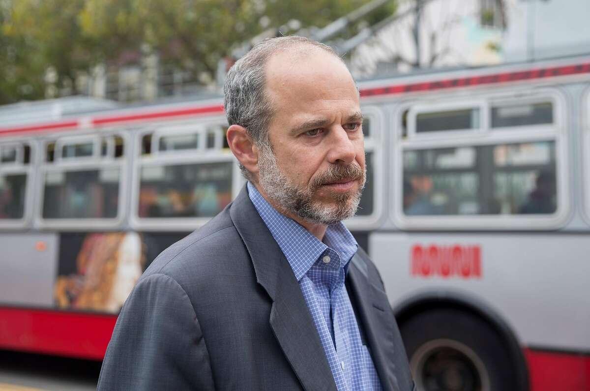 SFMTA Transit Chief Ed Reiskin poses for a portrait outside the SFMTA headquarters in San Francisco, Calif. Thursday, Aug. 23, 2018.