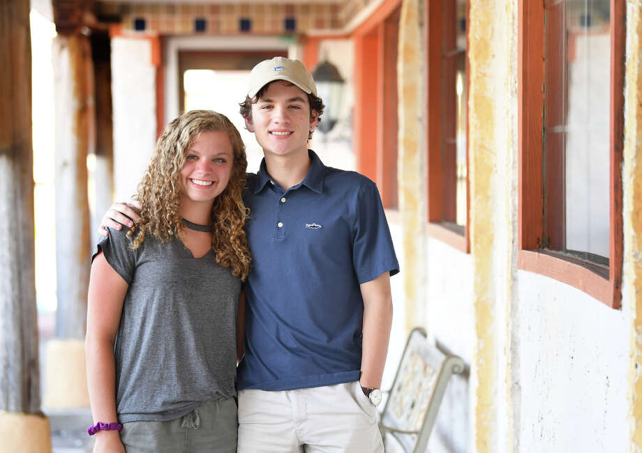 Melody Hare and Dylan Hare are twin siblings who were in kindergarten when Hurricane Rita struck Southeast Texas and where seniors in high school when Tropical Storm Harvey flooded the area. Photo by Guiseppe Barranco, 8/17/18 / Guiseppe Barranco ?