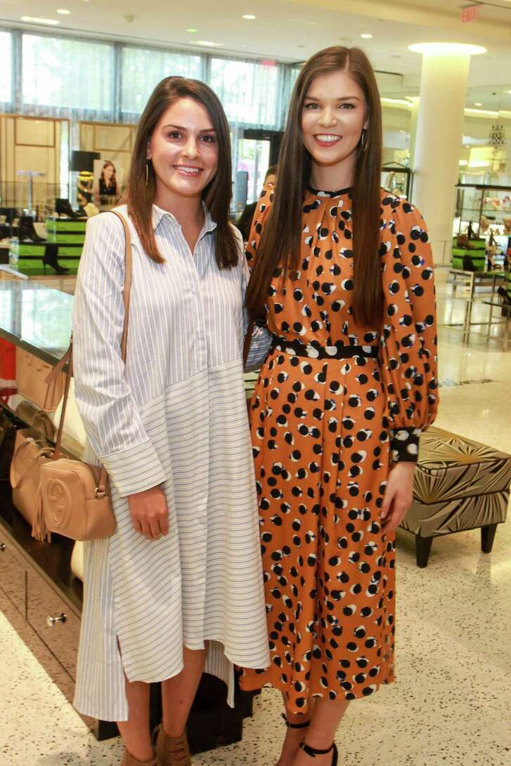 Brittany Meisner, left, and Katelyn Leonard at Dress for Success's Women of Wardrobe annual Summer Soiree at Tootsies.