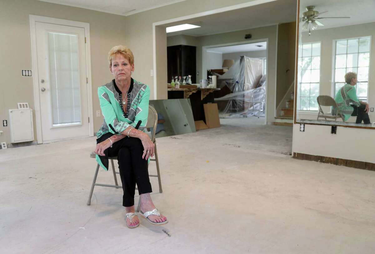 Martha Arvidsson's home in Dickinson remains in a state of disrepair a year after Hurricane Harvey. The first contractor she hired didn't complete the work, did shoddy repair work, and that she has hired two more people to redo the work.
