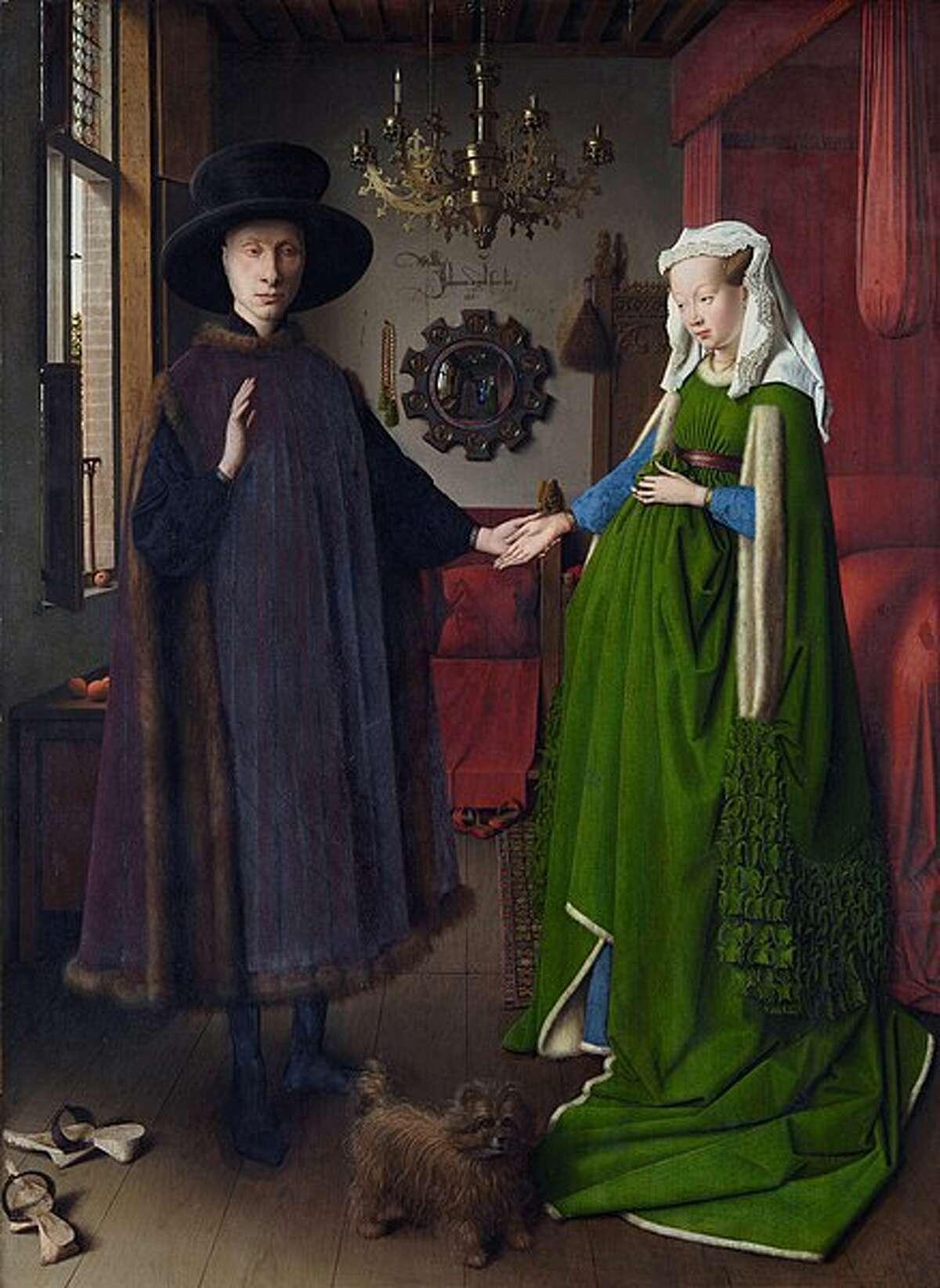 """The Arnolfini Marriage"" by Jan van Eyck dates to 1434."