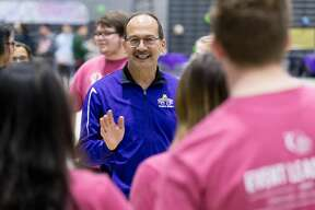 The UAlbany family turns out for community service across campus and the city of Albany in the inaugural Big Event held April 21, 2018. Photographer: Paul Miller