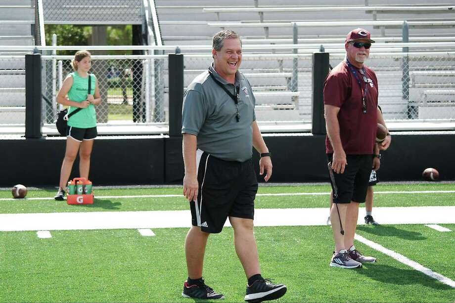 Clear Creek head football coach Dwayne Lane hopes his offense can carry the Wildcats to a few early wins while a youthful Wildcat defense develops. Photo: Kirk Sides / Houston Chronicle / © 2018 Kirk Sides / Houston Chronicle