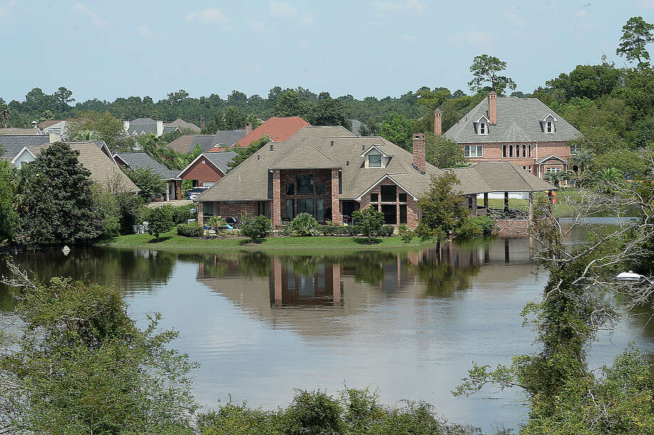 Areas throughout Orange County, including portions of  a neighborhood west of Texas 62, remain underwater as water slowly recedes from last week's Tropical Storm Harvey historic and unprecedented rainfall. Photo taken Sunday, September 3, 2017 Kim Brent/The Enterprise Photo: Kim Brent/Beaumont Enterprise