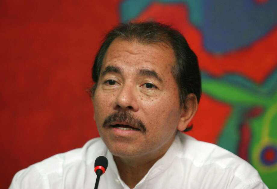 Daniel Ortega talks during a meeting in Nicaragua in 2007. Photo: Bloomberg File Photo By Susana Gonzalez / Bloomberg