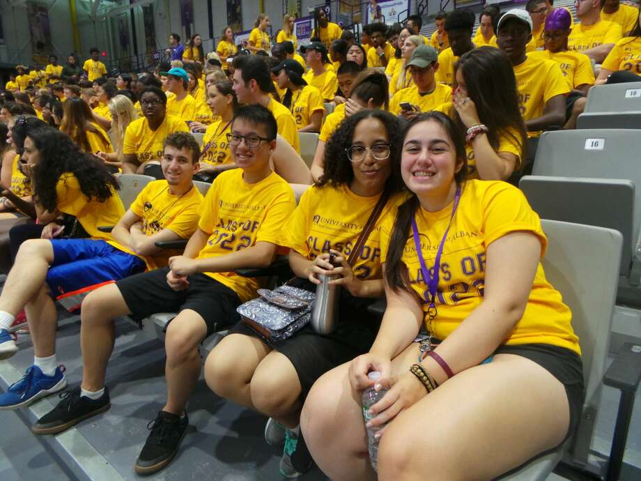 Were you Seen at University at Albany's move-in day and Opening Convocation ceremony for new students on Thursday, Aug. 23 and Friday, Aug. 24, 2018? Photo: Sarah O'Carroll