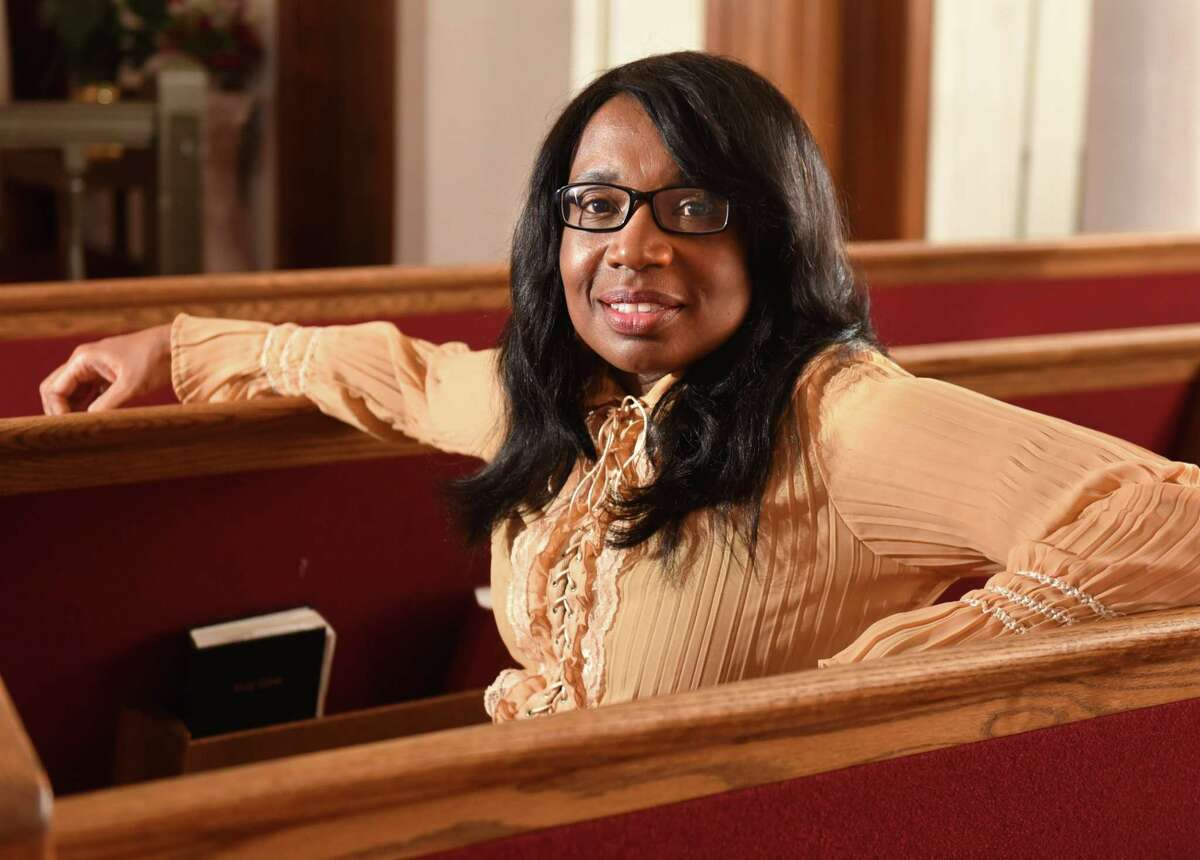 Pamela Harper sits on a pew in New Jerusalem Home of the Saved Church on Wednesday, Aug. 22, 2018 in Albany, N.Y. (Lori Van Buren/Times Union)