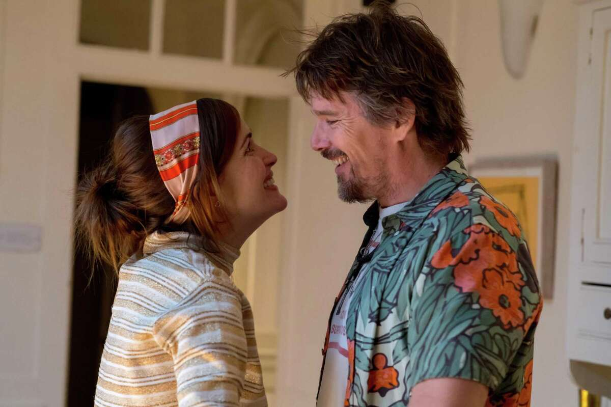 """Rose Byrne and Ethan Hawke find new life; Chris O'Dowd, below, is obsessed with a has-been rocker in """"Juliet, Naked."""""""