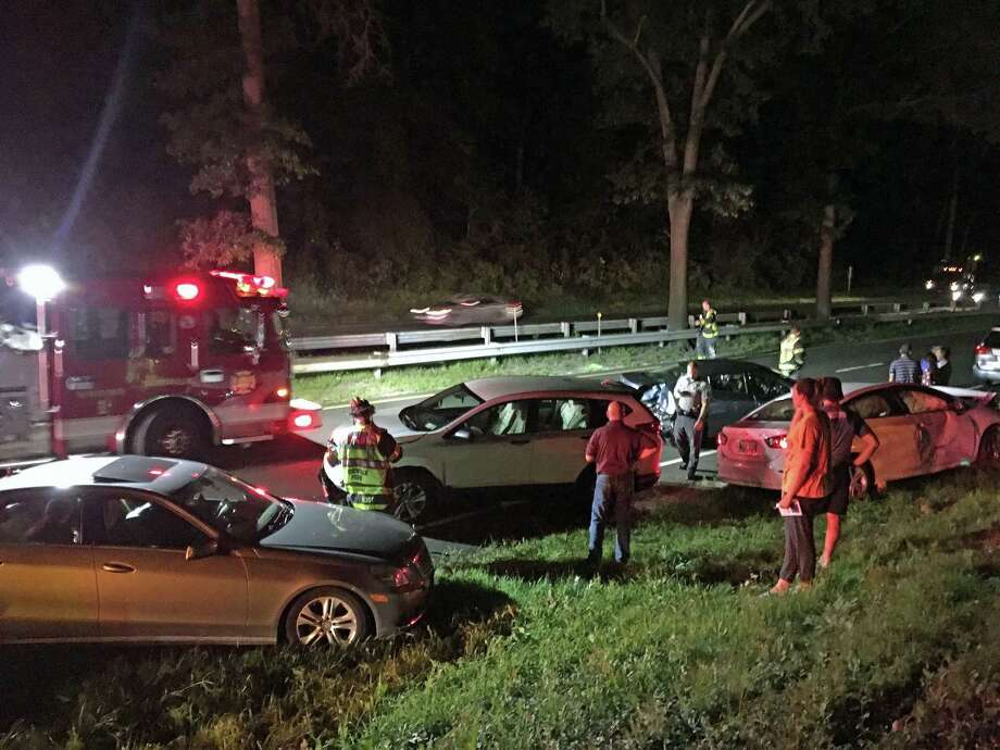 The highway near Westport and Norwalk, Conn., was closed between exits 40B and 41. The DOT said the crash on Aug. 24, 2018, was reported at 8:24 p.m. Photo: Claire Racine / Hearst Connecticut Media / Connecticut Post