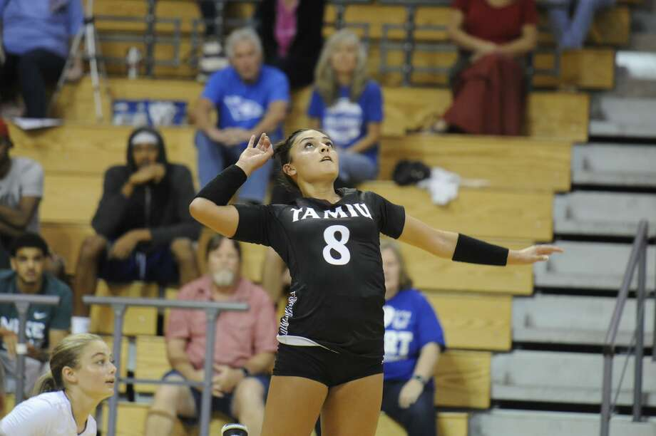 The Dustdevils lost a pair of 3-1 decisions on Friday to California University of Pennsylvania and LIU Post in New Hampshire. Sophomore Gabrielle Zamora had a team-best nine digs with six kills and two block assists against Cal U. Photo: Courtesy Of TAMIU Athletics, File