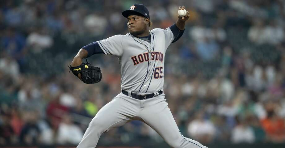 PHOTOS: Astros game-by-game Reliever Framber Valdez #65 of the Houston Astros delivers a pitch during the third inning of a game against the Seattle Mariners at Safeco Field on August 21, 2018 in Seattle, Washington. (Photo by Stephen Brashear/Getty Images) Browse through the photos to see how the Astros have fared in each game this season. Photo: Stephen Brashear/Getty Images