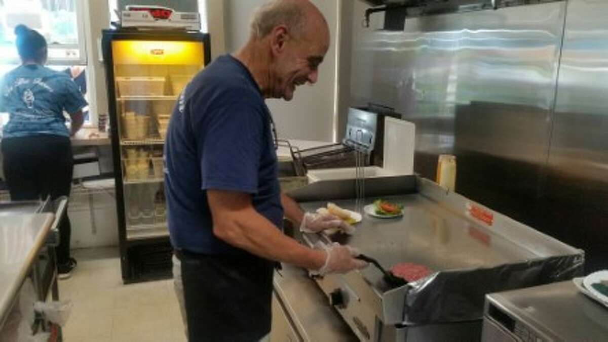Nicholas Huban, who was fatally hit by a car in November, seen making sandwiches at his restaurant On the Farm.