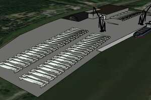 The state's master offshore wind plan suggests that the Port of Albany could be used to assemble giant wind turbine blades that would be shipped down the Hudson River to the Atlantic