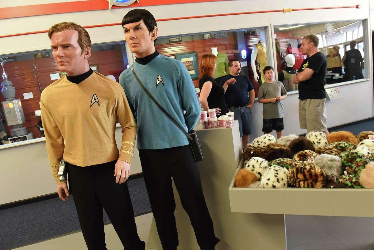 People look around the lobby area in the Star Trek Original Series Set Tour building during Trekonderoga 2018 on Friday, Aug. 24, 2018 in Ticonderoga, N.Y. (Lori Van Buren/Times Union)