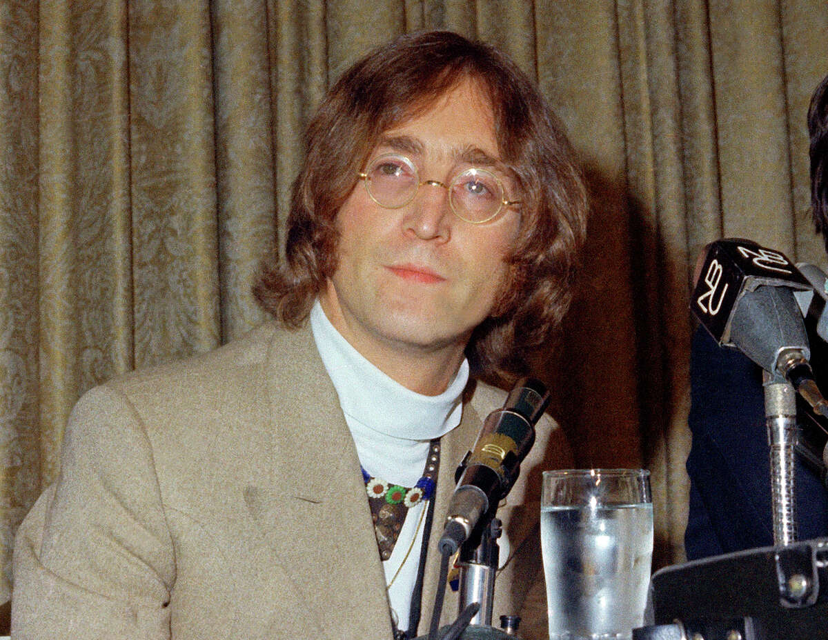 FILE - In this 1971 file photo, singer John Lennon appears during a press conference. Mark David Chapman, 63, who shot and killed Lennon on Dec. 8, 1980, was denied parole for a tenth time on Thursday, Aug. 23, 2018 by New York's Parole Board. He will be up for parole again in August 2020. (AP Photo, File)