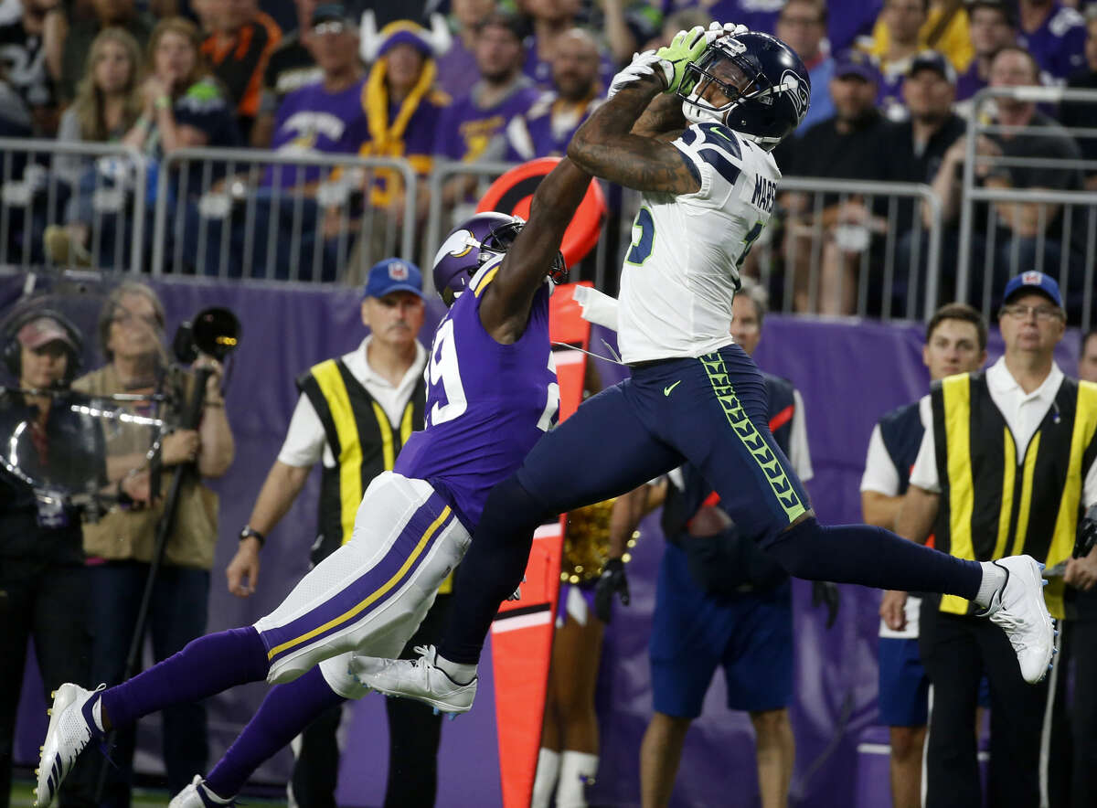 WIDE RECEIVERS  The Seahawks know what Baldwin and Tyler Lockett bring. Jaron Brown, who's coming off a breakout season with the Arizona Cardinals, is another reliable option. The biggest wild cards at this position are Brandon Marshall and Davis Moore. Marshall is a six-time Pro Bowler, but hasn't had star production since 2015; Moore, despite having a breakout preseason, is unproven in the regular season. But the Seahawks don't seem to be worried about that. Marshall, who signed a one-year deal with the Seahawks in the offseason, said Thursday he started feeling 100 percent just last week. Foot and ankle injuries slowed him the last few years, but he's impressed his new team in the last couple months.