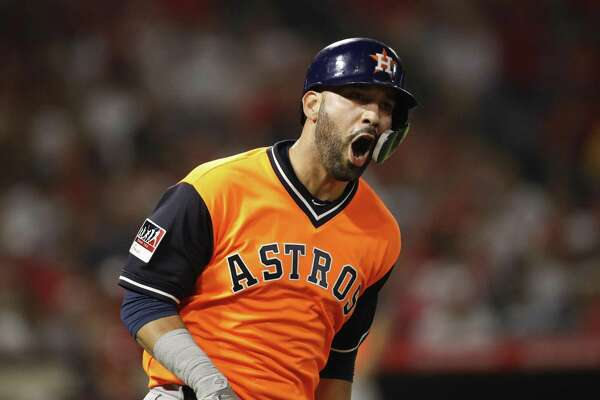 444b6dffc Marwin Gonzalez blasts grand slam as Astros rock Angels. Chandler Rome ...