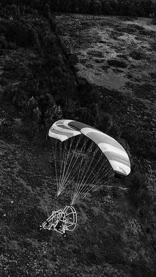 Powered parachutes like this can been seen today and Sunday morning at Nail's Fly-In south of Franklin. Photo: Photo Provided By Reggie Toler