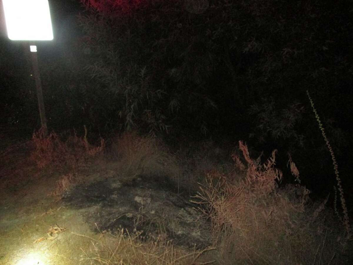 The extinguished brush fires Montes confessed to starting.