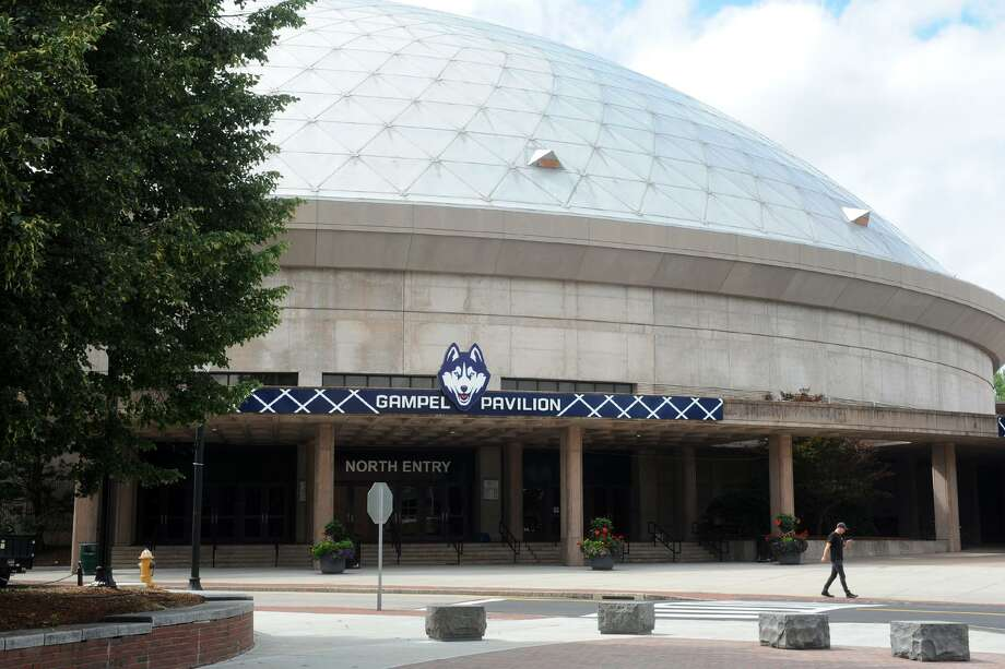 Gampel Pavilion on the University of Connecticut campus, in Storrs, Conn. Aug. 20, 2018. Photo: Ned Gerard / Hearst Connecticut Media / Connecticut Post