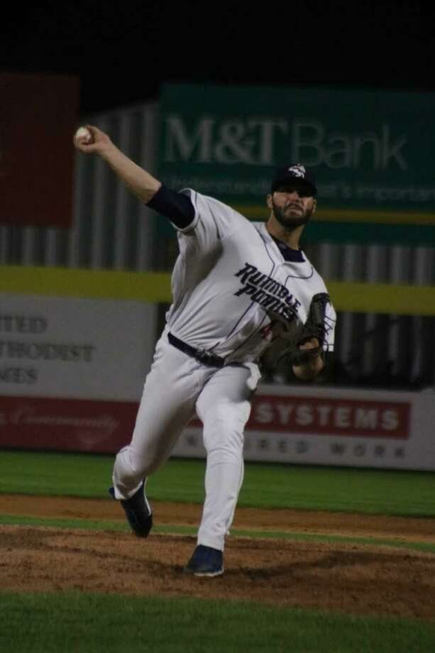Milford's Joe Zanghi was in Hartford this week, pitching for the Binghamton Rumble Ponies, the Double-A affiliate of the Mets. Photo: Binghamton Rumble Ponies