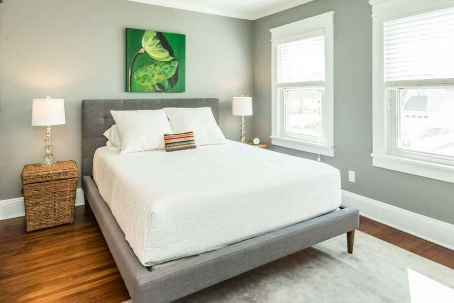 Pascale, a superhost on AirBNB, rents out a room with a queen-sized bed and an en suite bathroom in a sunny 1920s house in Norwalk. Photo: Contributed Photo / Norwalk Hour contributed