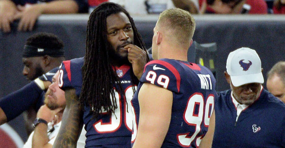 PHOTOS: A look at the salaries for each Texans player Jadeveon Clowney (left) and J.J. Watt are two of the highest-paid Texans this season. Check out the photos above for a look at the salary and contract situation for each Texans player ... Photo: George Bridges/Associated Press / Copyright 2018 The Associated Press. All rights reserved.