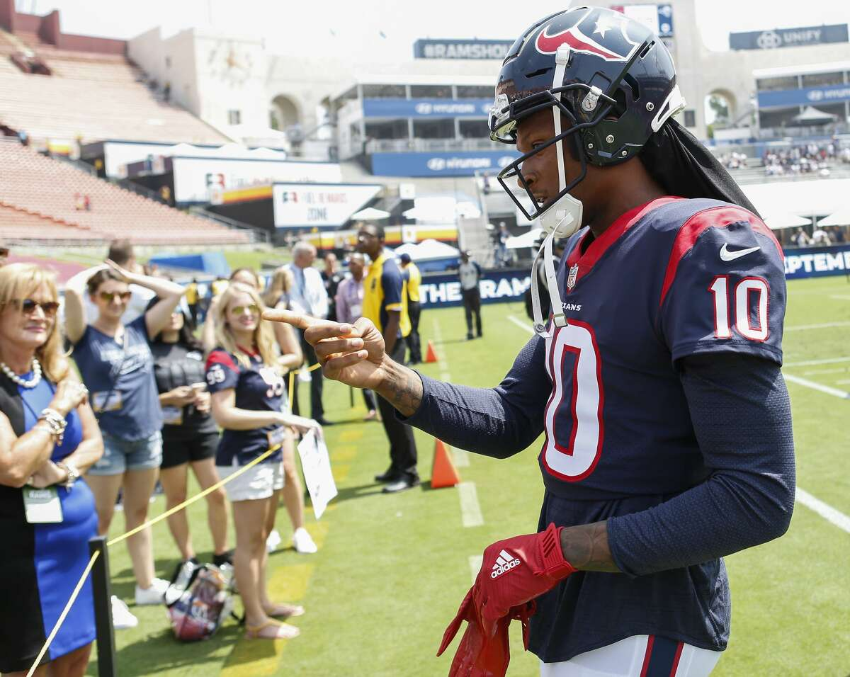DeAndre Hopkins, receiver 2018 base salary: $12.5 million Contract: 5 years, $81 million ($49 million guaranteed) Contract up after the 2022 season.