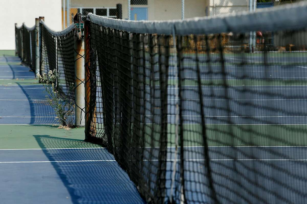 The tennis courts at Oakland Technical High School on Friday, Aug. 24, 2018, in Oakland, Calif.