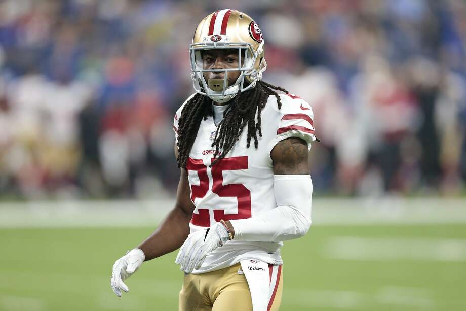 San Francisco 49ers defensive back Richard Sherman (25) during the first half of an NFL preseason football game against the Indianapolis Colts in Indianapolis, Saturday, Aug. 25, 2018. (AP Photo/AJ Mast) Photo: AJ Mast, Associated Press