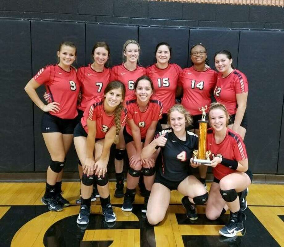 The Caney Creek Lady Panthers won the Trinity Tournament on Saturday.