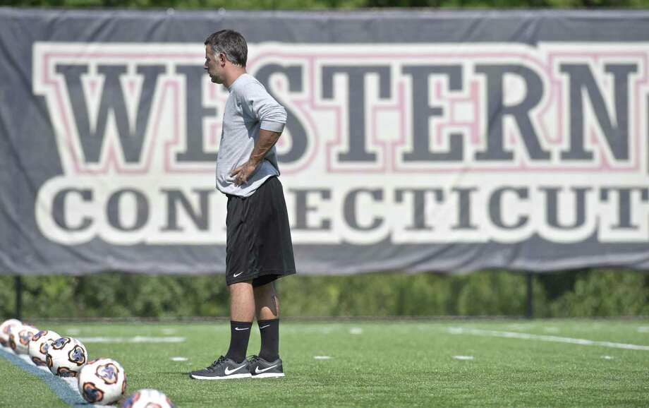 Head Coach Alex Harrison during Western Connecticut State University women's soccer team practice. Friday, August 24, 2018, Danbury, Conn. Photo: H John Voorhees III / Hearst Connecticut Media / The News-Times