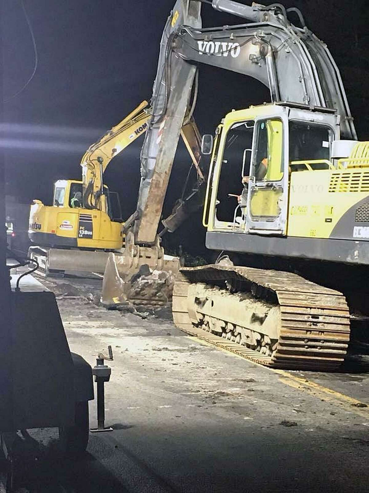 The construction project planned for Route 25 in Monroe, Conn., is underway and making progress, police said on Aug. 25, 2018.