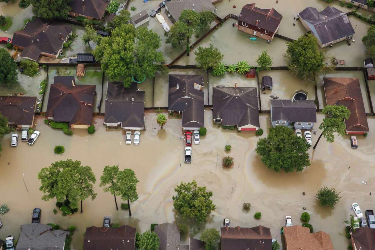 Houston homes soaking in high water after Hurricane Harvey dumped record amounts of rain over the course of several days appear in this photo taken Aug 29, 2017. Federal, state and local officials are seeking to fund projects to prevent devastation on such a massive scale in a future storm.
