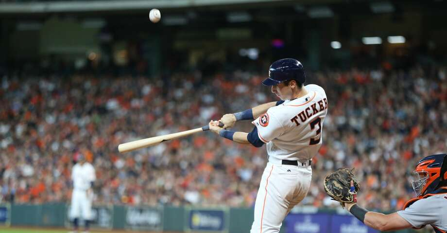 PHOTOS: Astros game-by-game Houston Astros left fielder Kyle Tucker (3) fouls the ball in the second inning against the Detroit Tigers at Minute Maid Park on Saturday, July 14, 2018. Astros won the game 9-1 and lead the Tigers 2-0 in the series.( Elizabeth Conley / Houston Chronicle ) Browse through the photos to see how the Astros have fared in each game this season. Photo: Elizabeth Conley/Houston Chronicle
