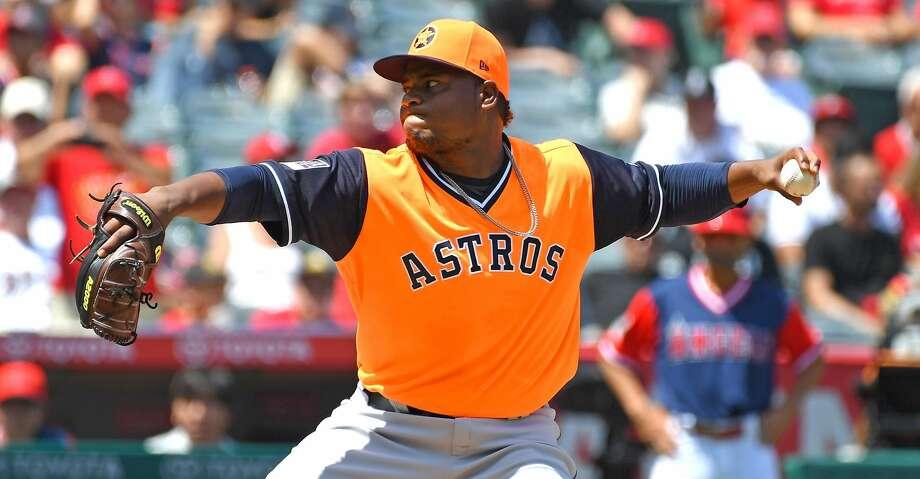 603f73bcf Framber Valdez shines in first MLB start as Astros sweep Angels ...