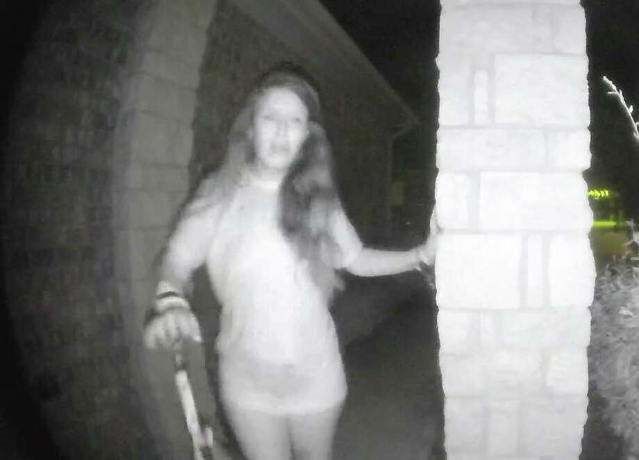 Authorities are seeking the identity of a woman who rang a doorbell early Friday morning in Montgomery County. Photo: Montgomery County Sheriff's Office