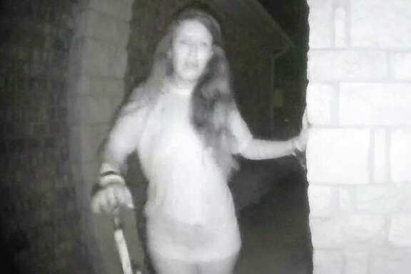 Authorities are seeking the identity of a woman who rang a doorbell early Friday morning in Montgomery County.