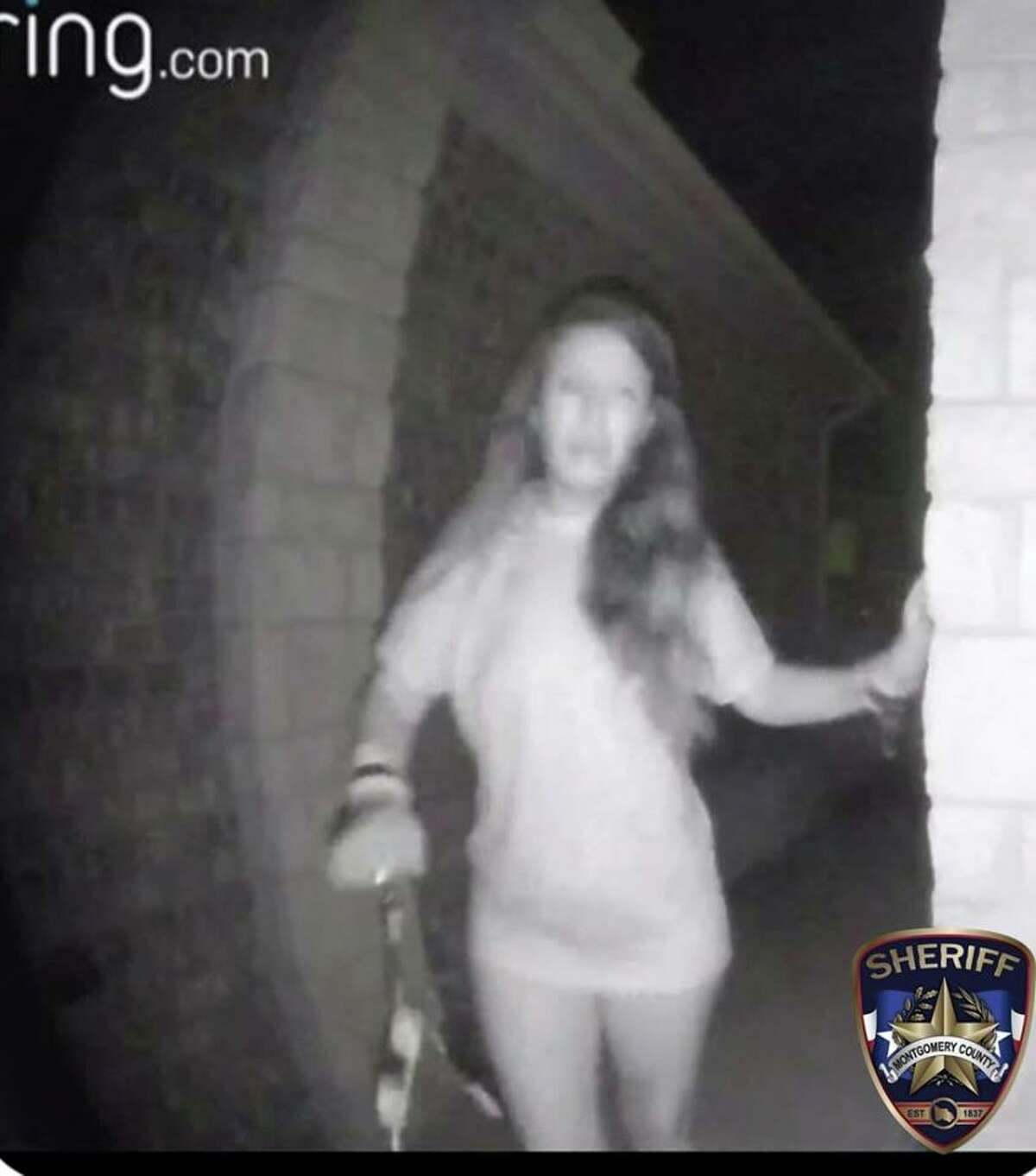 Authorities are seeking the identity of a woman who rang a doorbell early Friday morning in Montgomery County. PHOTOS: Missing in Houston Authorities are looking for these individuals who haven't been heard from for a while. >>Do you know these 22 missing people who were last seen in Houston?