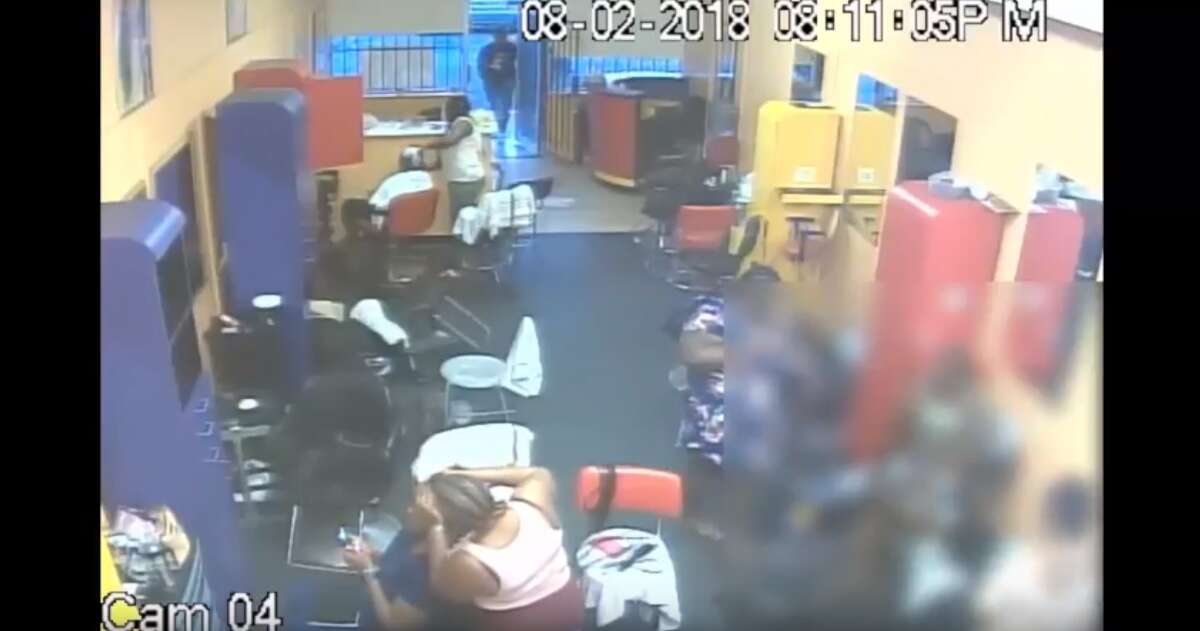 PHOTOS: Salon owner charges at armed attackers with broom Houston police are working to identify three armed men who walked into Rose's African Hair Braiding salon earlier this month in the 9500 block of Homestead Road and attacked people inside. In surveillance video released by the department, the co-owner of the salon can be seen charging at the attackers with a broom. >>> See what happened after the owner intervened