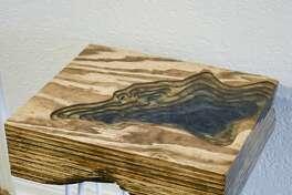 Furniture maker Chad Kimball's Blue Lagoon table.