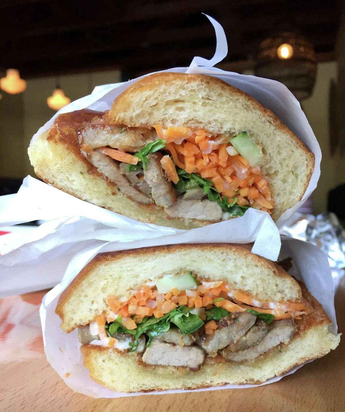 Banh mi sandwich at Singhs Vietnamese.