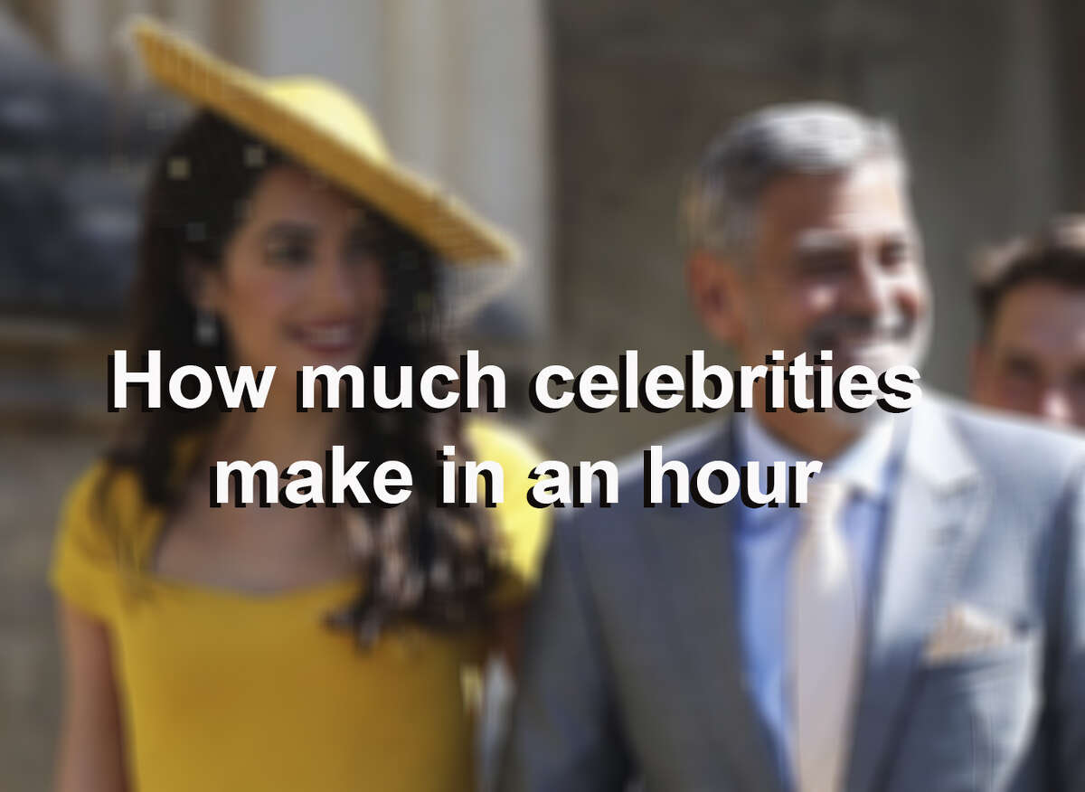 To calculate hourly earnings, Business Insider divided all annual income by 8,760, the number of hours in a year, to calculate how much each celebrity earns per hour.