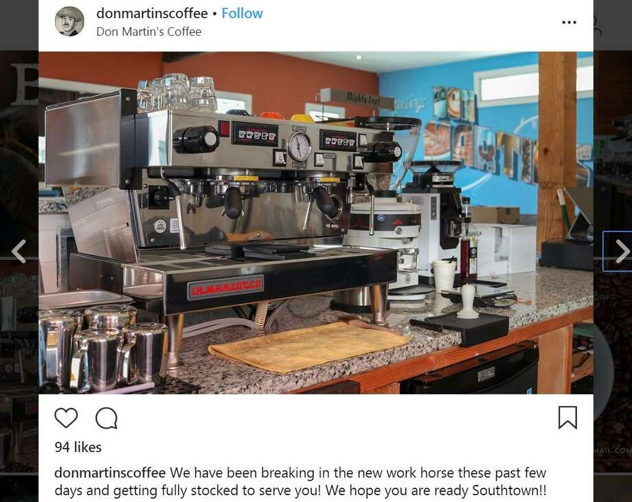 Don Martin's Coffee Co. will open at 540 S. Presa Tuesday morning. Photo: Instagram