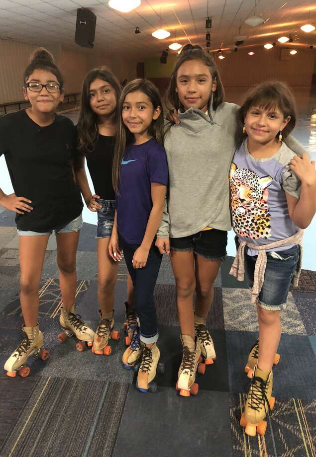 Skate party: Aalyiah Maldonado, from left, Joaslyne Salinas, Mia Munguia, Aliyah Benavidez and Isabella Barrera Photo: Courtesy Photo