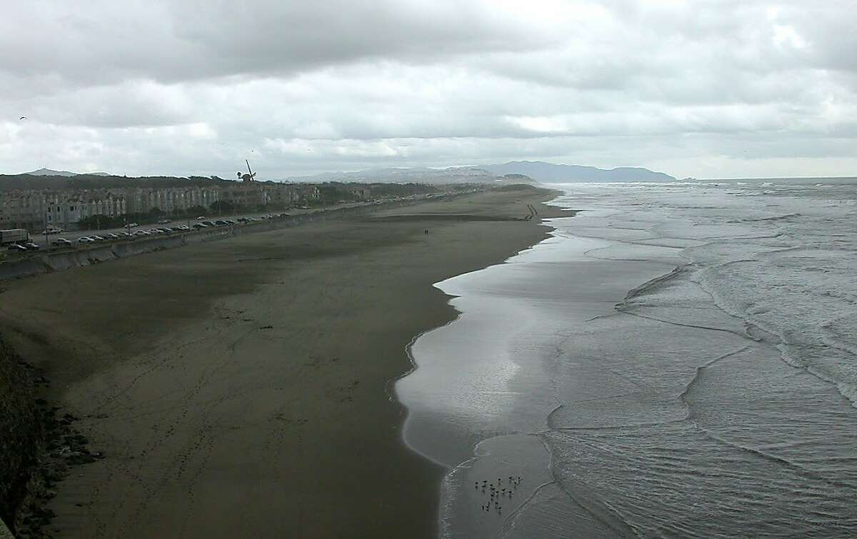 Ocean Beach extends south from the Cliff House for miles to Fort Funston