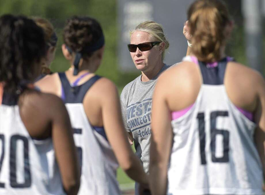 Head Coach Dani McDonnell during Western Connecticut State University women's field hockey practice. Friday, August 24, 2018, Danbury, Conn. Photo: H John Voorhees III / Hearst Connecticut Media / The News-Times