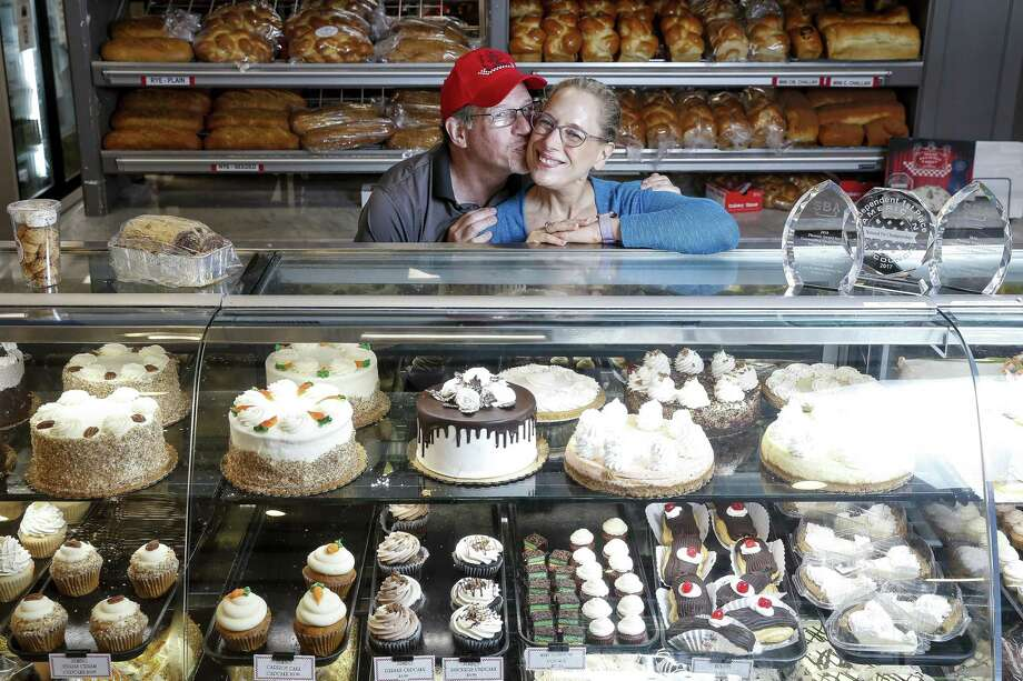 Three Brothers Bakery owners Bobby and Janice Jucker stand for a portrait at their South Braeswood bakery that has flooded multiple times over the last decade and last year was inundated by four and a half feet of water during Hurricane Harvey. Photo: Michael Ciaglo, Staff Photographer / Staff Photographer / Michael Ciaglo