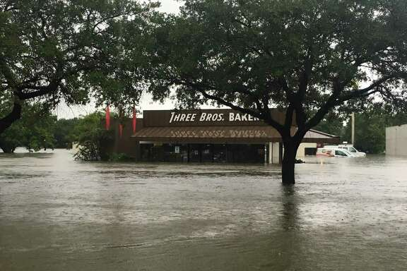 Three Brothers Bakery on S. Braeswood took on four and a half feet of water in Hurricane Harvey flooding.
